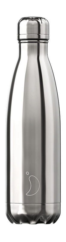 Chilly's Bottle - Chrome - Silver - 500 ml