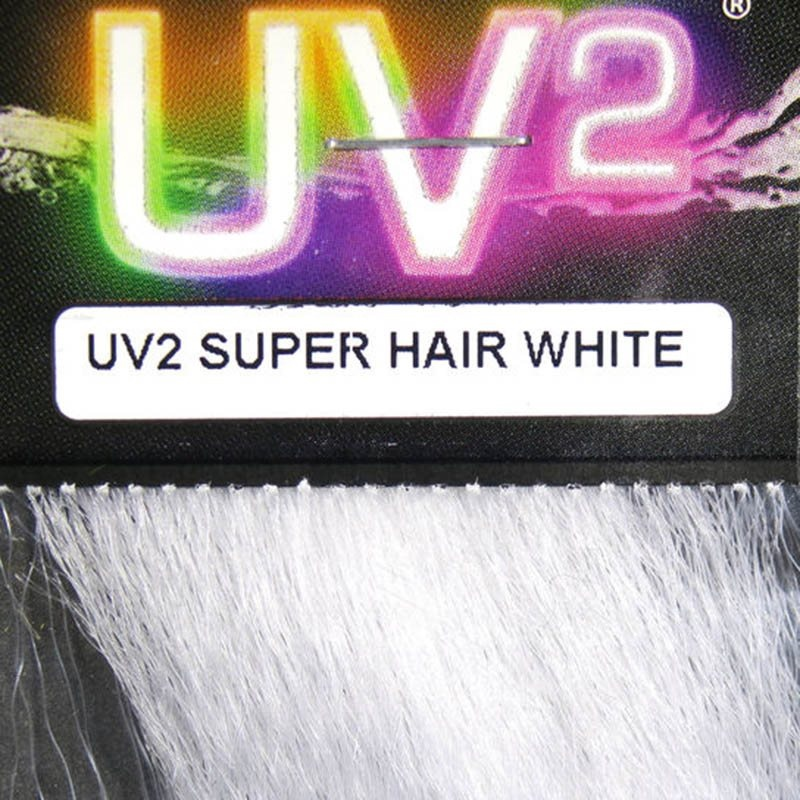 Hareline UV2 Super Hair - White