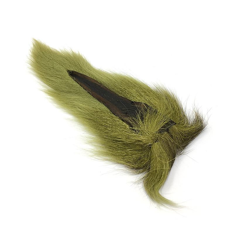 Hareline Large Northern Bucktail - Light Olive