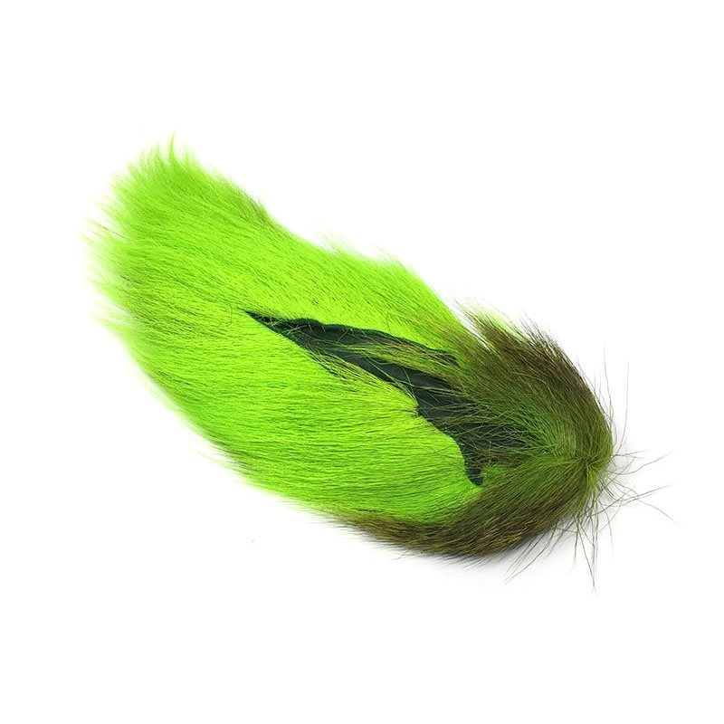 Hareline Large Northern Bucktail - Lime Green