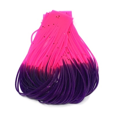 Hareline Hot Tipped Crazy Legs - Fl.Fuchsia/Purple Tipped