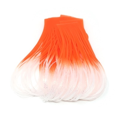 Hareline Hot Tipped Crazy Legs - Clear Pearl/Fl.Orange Tipped