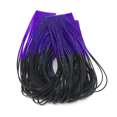 Hareline Hot Tipped Crazy Legs - Black/Purple Tipped