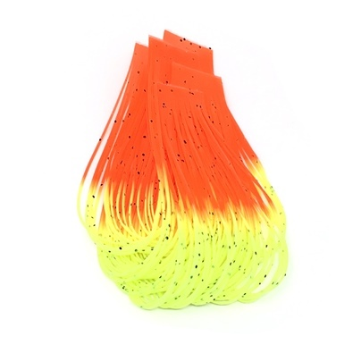 Hareline Hot Tipped Crazy Legs - Yellow Chart./Fl.Orange Tipped