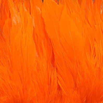 Hareline Schlappen 5-7 Inch - Hot Orange