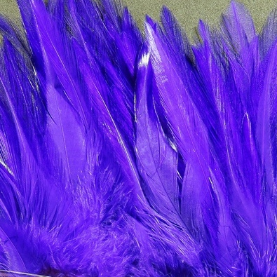 Hareline Strung Chinese 5-7 Inch Saddle Hackle - Purple