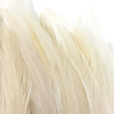Hareline Strung Chinese 5-7 Inch Saddle Hackle - White