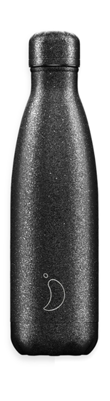 Chilly's Bottle - Sparkly - Black - 500 ml