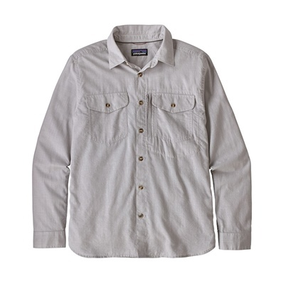 Patagonia Men's Long-Sleeved Cayo Largo II Shirt - CHFG Chambray: Feather Grey