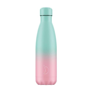 Chilly's Bottle - Gradient - PastelGreen/Pink - 500 ml