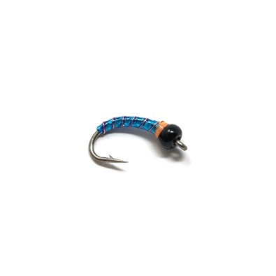 Buzzer - Bead Black - Body Turquoise - Tinsel Pink - Spot Orange