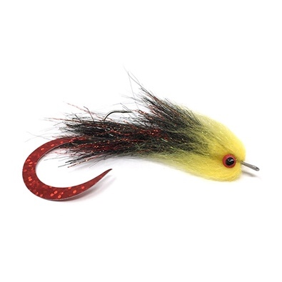 Streamer - Articulated - Wiggle Red - Black Yellow