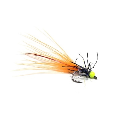 Competition Streamer - Bead Chartreuse - Brill Black - Marabou Orange