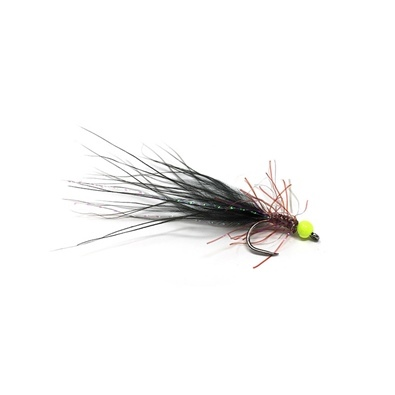 Competition Streamer - Pallina Chartreuse - Brill Brown - Marabou Black