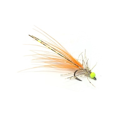 Competition Streamer - Bead Chartreuse - Brill Gold - Marabou Orange