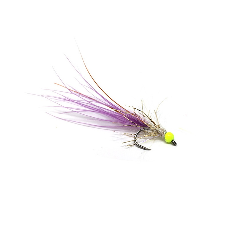 Competition Streamer - Pallina Chartreuse - Brill Gold - Marabou Purple