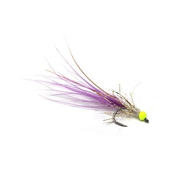Competition Streamer - Bead Chartreuse - Brill Gold - Marabou Purple