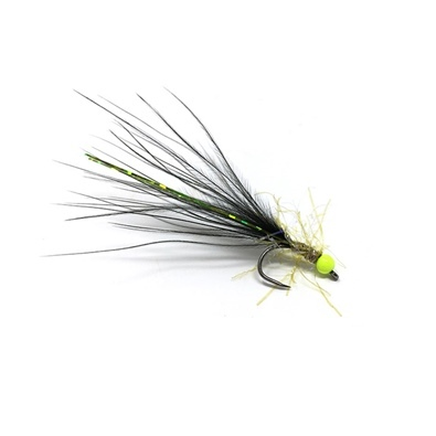 Competition Streamer - Bead Chartreuse - Brill Olive - Marabou Black