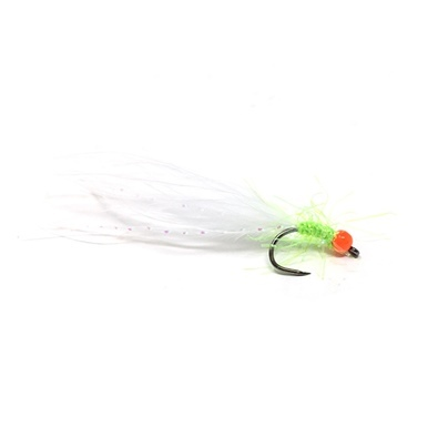 Competition Streamer - Pallina Orange - Brill Chartreuse - Marabou White