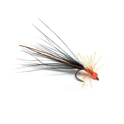Competition Streamer - Pallina Orange - Brill Orange - Marabou Black