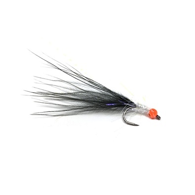 Competition Streamer - Pallina Orange - Brill White - Marabou Black