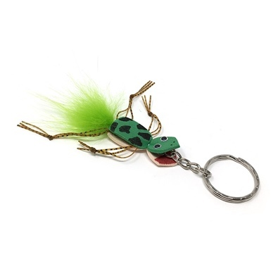 Keyring Frog - Tail Highlander Green