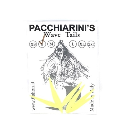 Pacchiarini's Wave Tails S - Yellow Fluo - 7 pcs.
