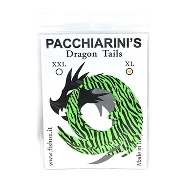 Pacchiarini's Dragon Tails XL - Chartreuse Barred - 4 pcs.