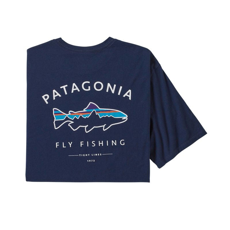Patagonia Men's Framed Fitz Roy Trout Organic T-shirt - CNY Classic Navy