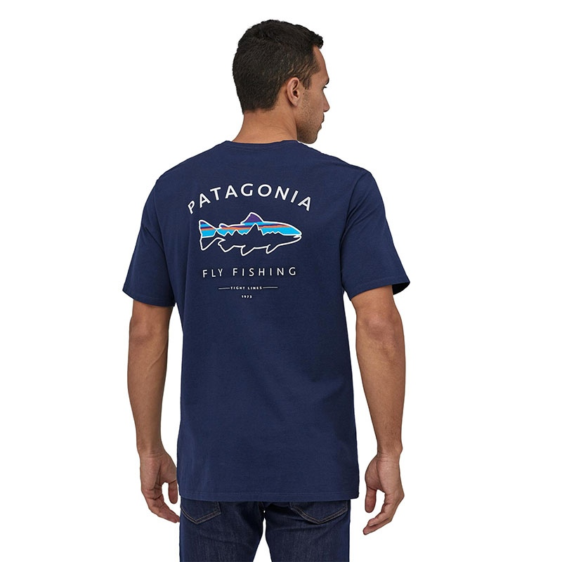 Patagonia Men's Framed Fitz Roy Trout Organic T-shirt - CNY Classic Navy alternate 36533