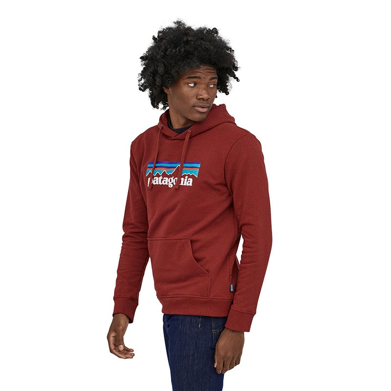 Patagonia Men's P-6 Logo Uprisal Hoody - BARR Barn Red alternate 37580