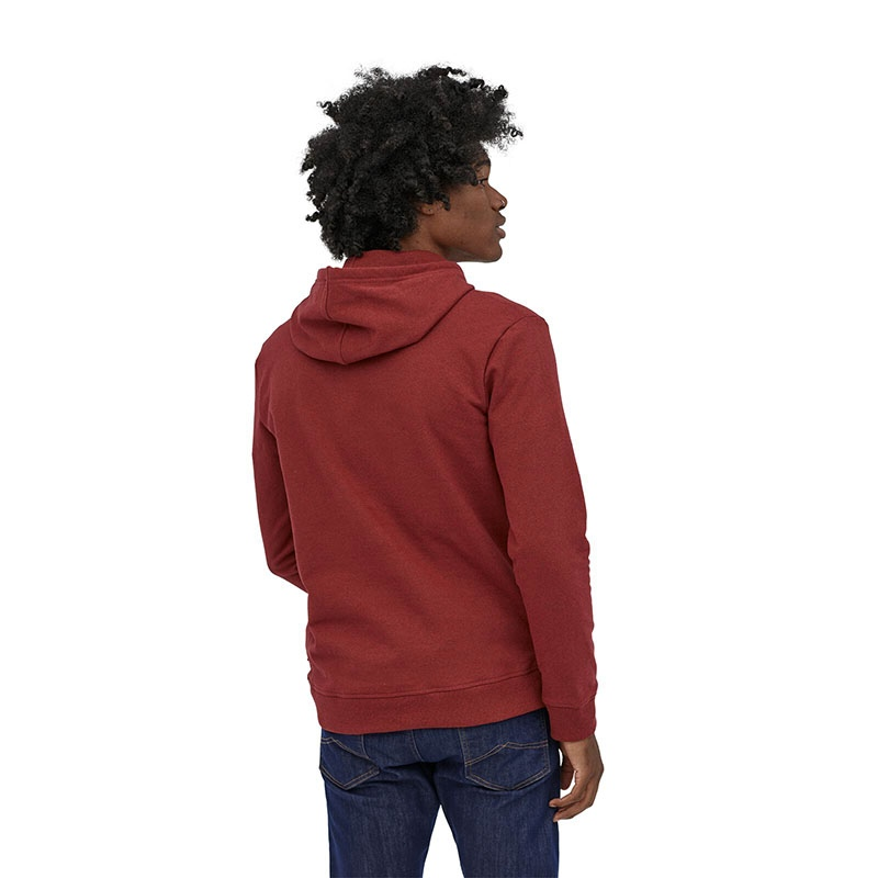 Patagonia Men's P-6 Logo Uprisal Hoody - BARR Barn Red alternate 37581