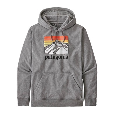 Patagonia Men's Line Logo Ridge Uprisal Hoody - GLH Gravel Heather