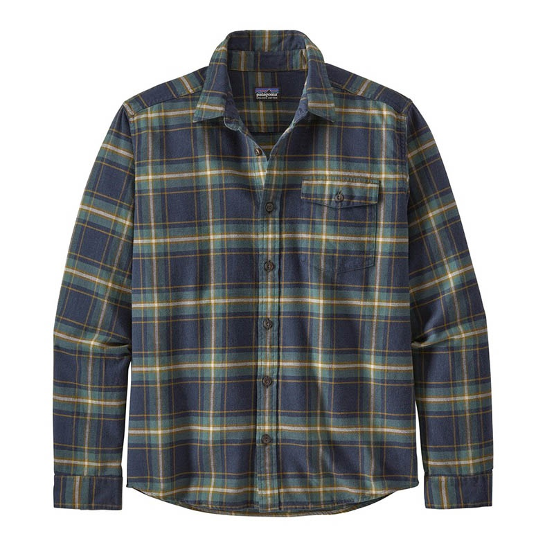 Patagonia Men's Long-Sleeved Lightweight Fjord Flanel Shirt - LNNA Lawrence: New Navy