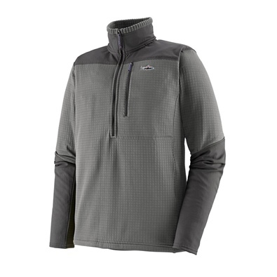 Patagonia Men's L/S R1 Fitz Roy 1/4 Zip - NGRY Noble Grey