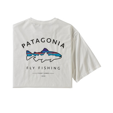 Patagonia Men's Framed Fitz Roy Trout Organic T-shirt - WHI White