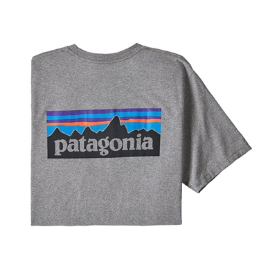 Patagonia Men's P-6 Logo Responsibili-Tee - GLH Gravel Heather