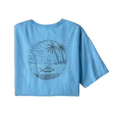 Patagonia Men's Wild Home Waters Organic T-shirt - LABF Lago Blue W/Flats