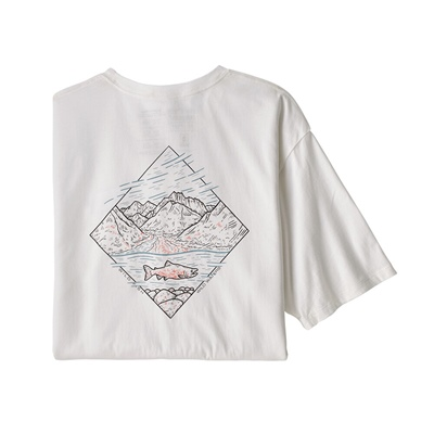 Patagonia Men's Wild Home Waters Organic T-shirt - WHRI White W/River