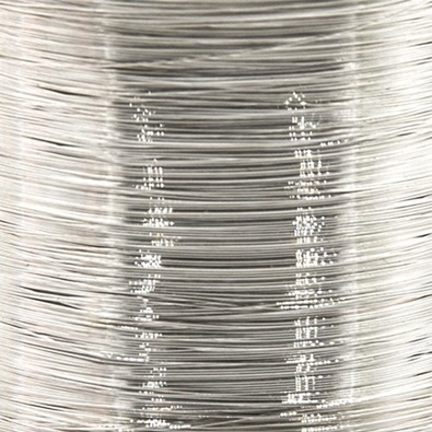 Color wire 0,09 silver