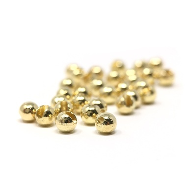 Tungsten balls slotted gold 100 pcs.