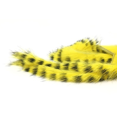 Zonker Rabbit Barred 4mm - Yellow/Black Barred