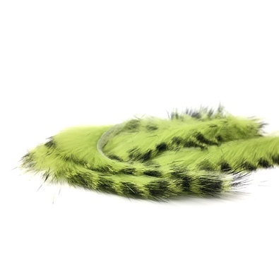 Zonker rabbit barred 4mm - Chartreuse/Black Barred