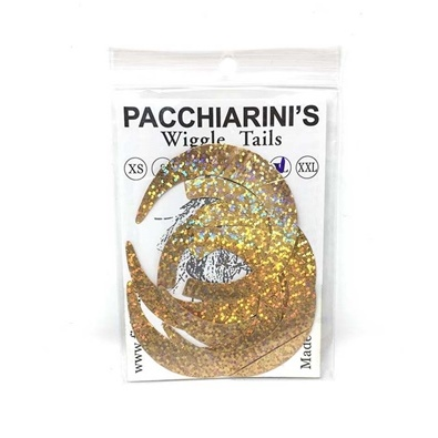 Pacchiarini's Wiggle Tails XL - Holographic Gold - 6 pcs.
