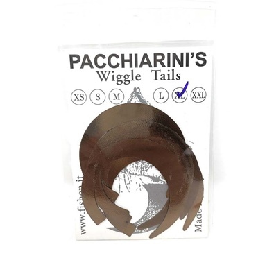 Pacchiarini's Wiggle Tails XL - Brown - 6 pcs.
