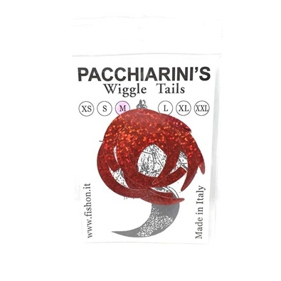 Pacchiarini's Wiggle Tails M - Holo Red - 6 pcs.