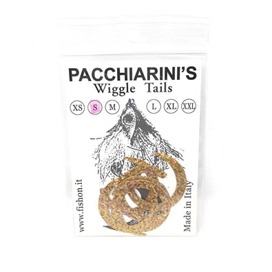 Pacchiarini's Wiggle Tails S - Holographic Gold - 6 pcs.