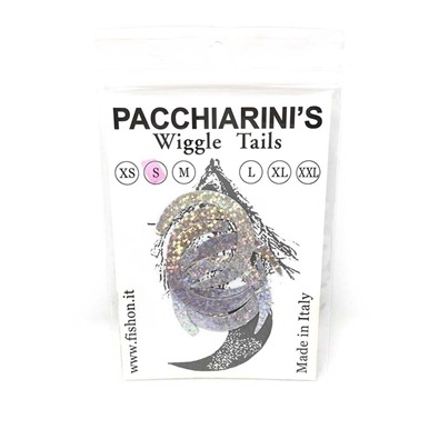 Pacchiarini's Wiggle Tails S - Holographic Silver - 6 pcs.