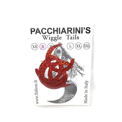 Pacchiarini's Wiggle Tails S - Holo Red - 6 pcs.