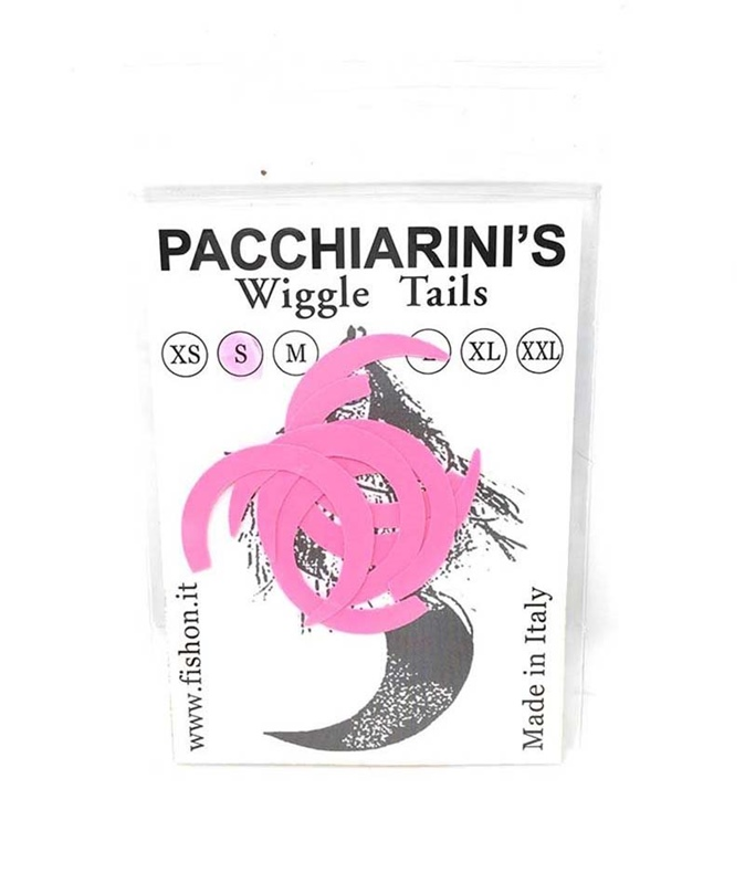 Pacchiarini's Wiggle Tails S - Fluo Pink - 6 pcs.